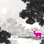 Fluorescence-Animals-Pink-in-forest-2009